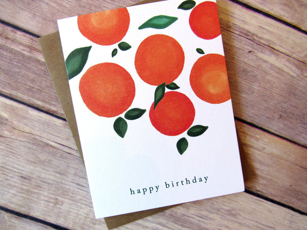 Birthday Oranges