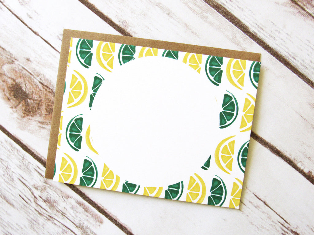 Lemon & Lime Note Cards