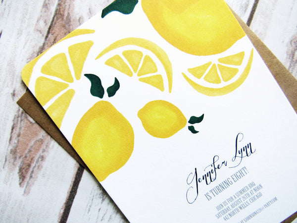 Bright Citrus Invitation
