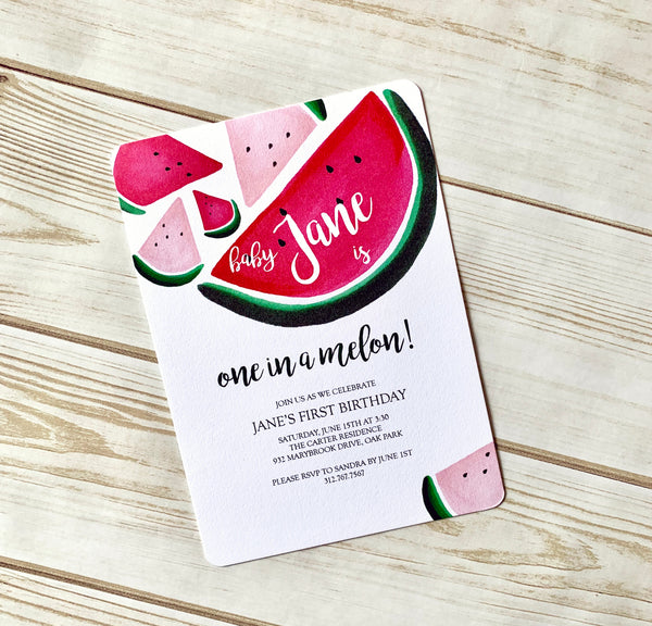 Watermelon Invite