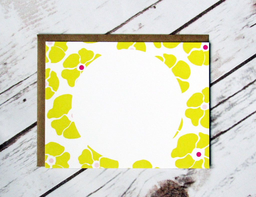 Yellow Blossom Note Cards
