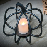 Black Pumpkin Tea Light Candle Holder