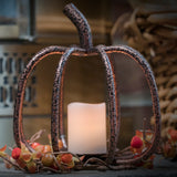Copper Pumpkin Tea Light Candle Holder