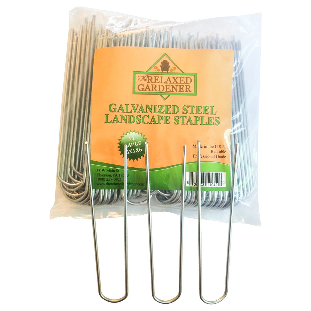100 Galvanized Steel Landscape Staples