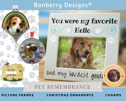 Pet loss Gifts - In Loving Memory Pet Frames, Ornaments and remembrance Keepsakes