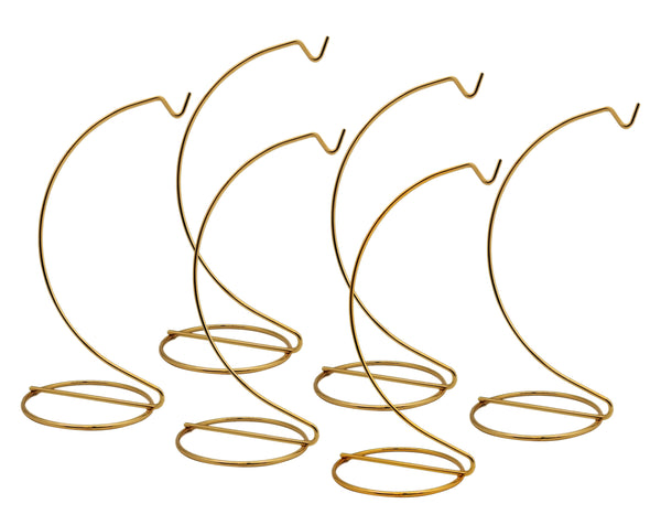 Smooth Brass Metal Wire Ornament Stand 7 Inch Pack of 6 Stands(1305-7)