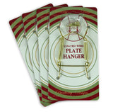 Brass Vinyl Coated Plate Hanger 3 to 5 Inch