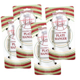 Chrome Vinyl Coated Plate Hanger 3.5 to 5 Inch Plate Hangers - Includes Hanging Hook and Nail