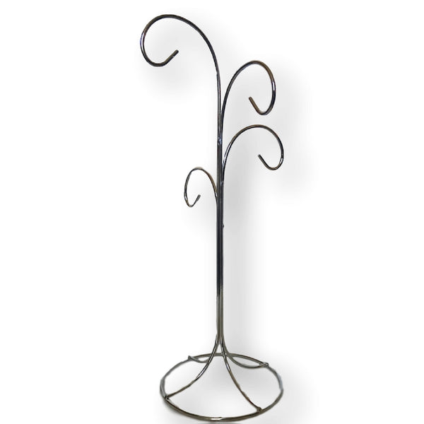 "4 Arm Ornament Stand - Smooth Chrome Finish - 13""H (1352-13)"