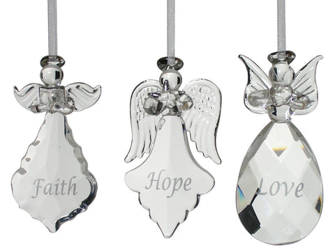 Glass Angel Ornaments - Set of 3(1948)