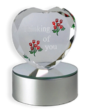 Thinking of You - Color Changing LED Glass Heart(194)