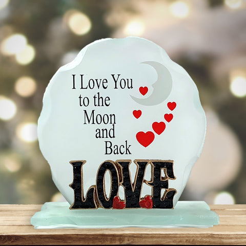 I Love You To The Moon and Back Frosted Glass Decoration(1965)