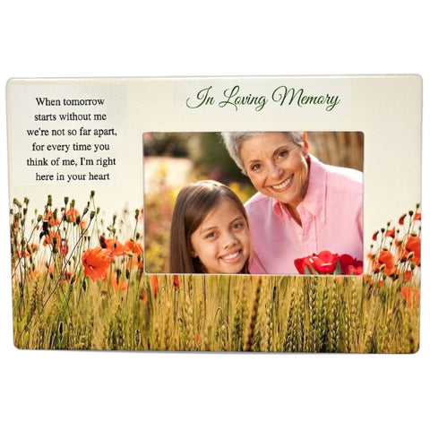 BANBERRY DESIGNS Memorial Picture Frame - When Tomorrow Starts Without Me Saying – Sympathy for The Loss of a Loved One - Bereavement in Loving Memory