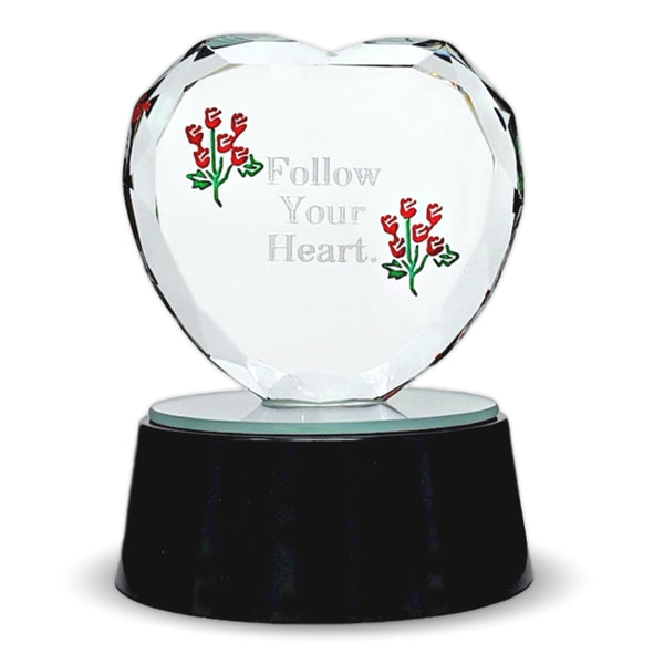 Follow Your Heart Etched Glass