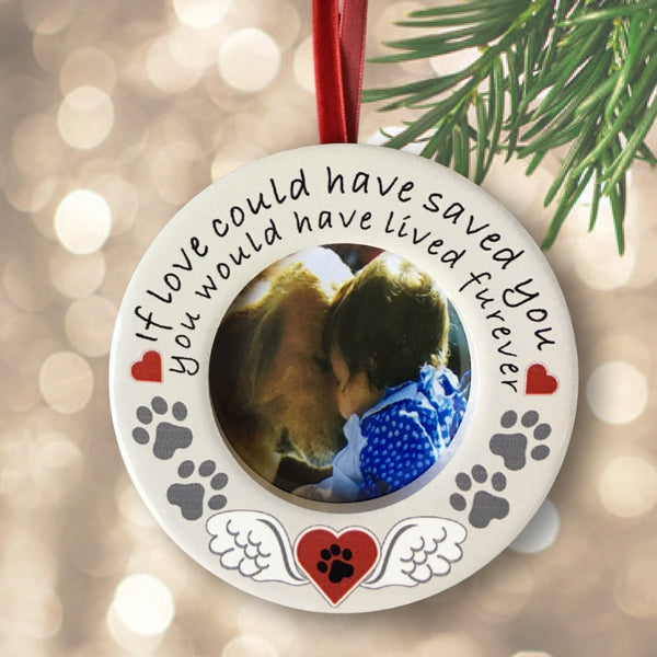 Pet Memorial Photo Frame Desktop - If Love Could Have Saved You Frame with Easel Back - Loving Saying for Dog or Cat – Picture Opening