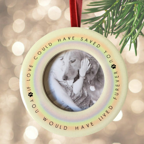 Pet Memorial Christmas Ornament – If Love Could Have Saved You, You Would Have Lived Furever