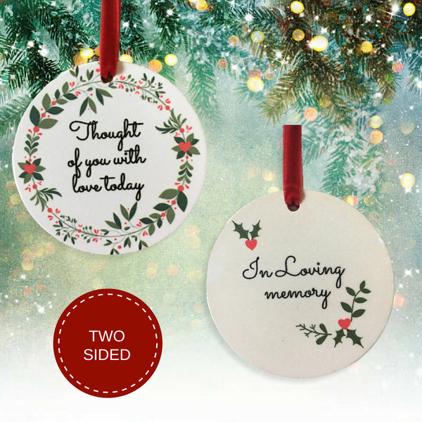 Memorial Christmas Ornament - I Thought of You with Love Today Ceramic Keepsake