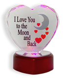I Love You To The Moon and Back Glass Heart