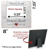 Pet Memorial Frame - Forever Friend Forever Loved Paw Print and Heart Design Picture Frame - 4 X 6 Photo Opening