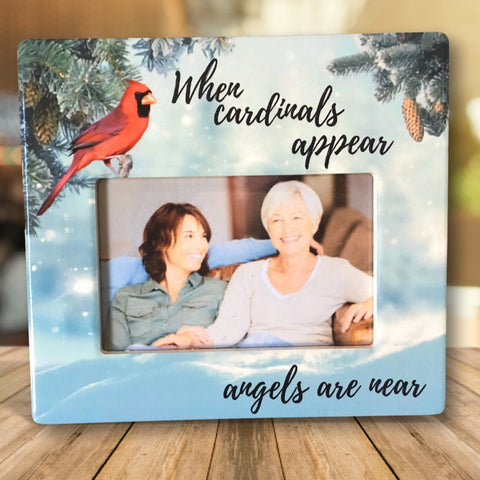 Memorial Picture Frame - When Cardinals Appear Angels are Near Loving Saying(2373)