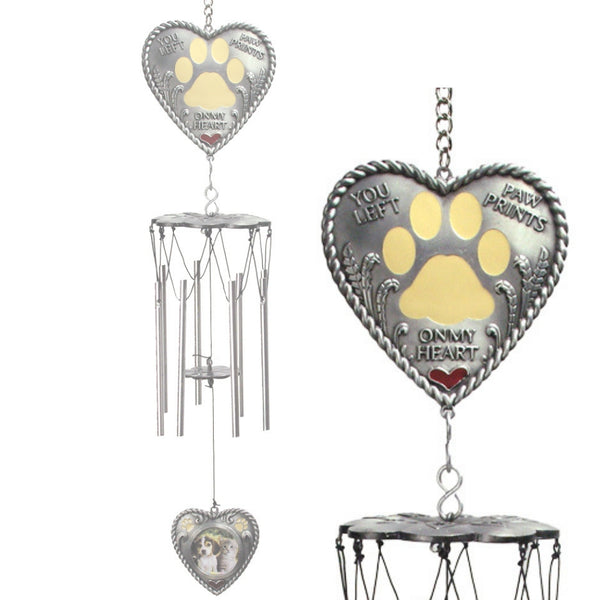 Paw Print Wind Chime - Honor Your Pet with this Beautiful Keepsake