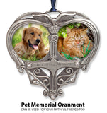 Memorial Photo Ornament - Double Picture Opening - in Loving Memory Christmas Ornament - Remembrance Ornament - Bereavement Gifts