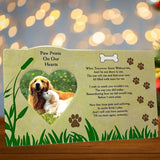 Pet Memorial Picture Frame - When Tomorrow Starts Without Me Loving Poem - Heart Shaped Photograph Opening and Easel Back