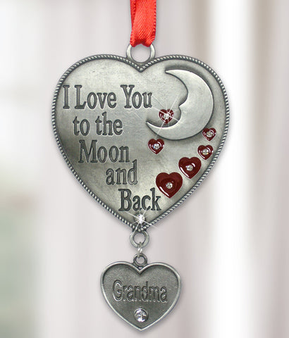 Grandma Ornament - I Love You to the Moon and Back Grandma