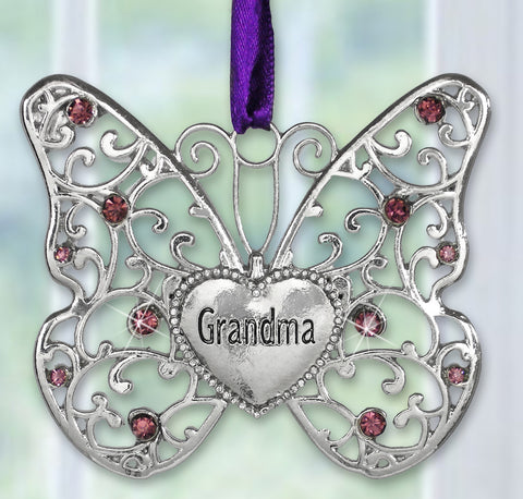 Grandma Butterfly Ornament