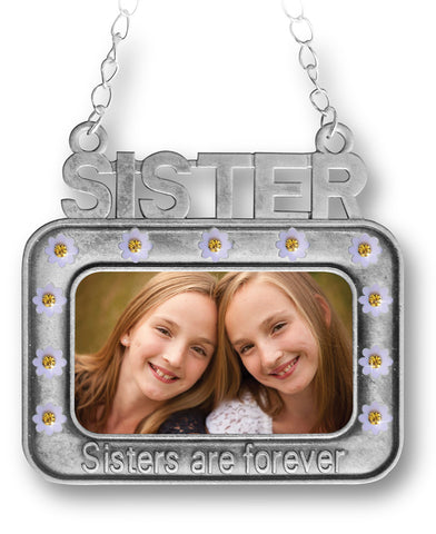 Sisters Ornament - Ornaments for Sisters - Picture Frame Ornaments(2850)