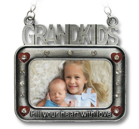 Grand Kids Ornament - Small Picture Frame for Grandkids Photo