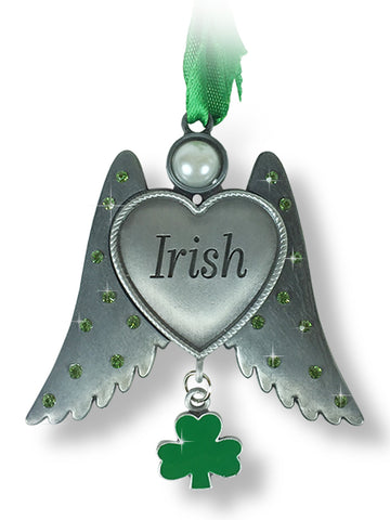 Irish Angle Wings Charm