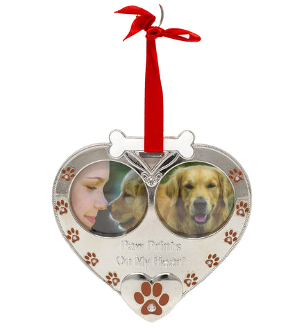 Dog Photo Ornament - Double Picture Pet Ornament