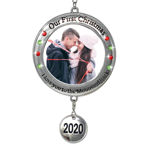 2019 Our First Christmas Ornament - 1st Xmas Ornament Picture Opening - I Love You to The Moon and Back