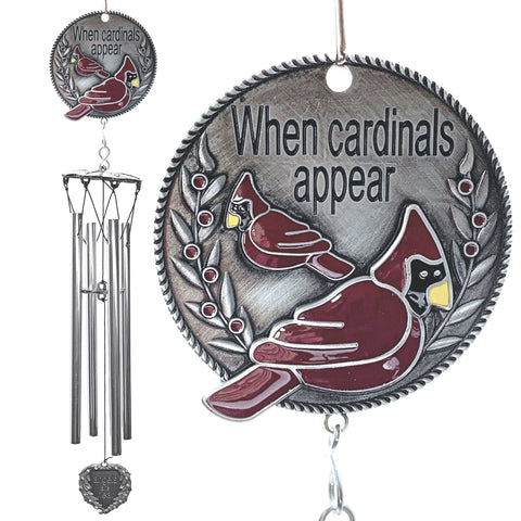 Memorial WindChime - When Cardinals Appear Angels are Near