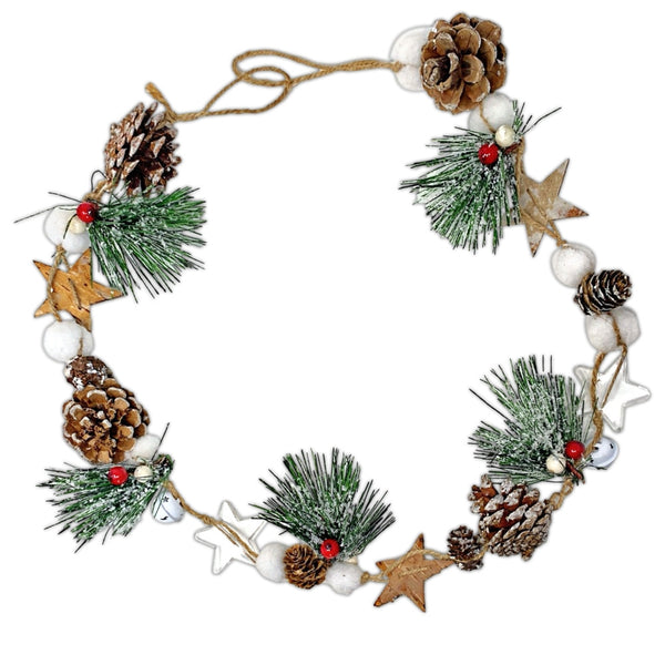 Rustic Farmhouse Festive Pinecone Garland (3352)