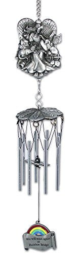 Rainbow Bridge Pet Remembrance Wind Chimes - Metal - 15 Inch