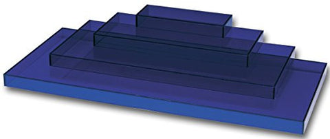 Acrylic Displayer 4-level Blue 22 X 10 X 4 Inch (1394)