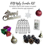 Mini Christmas Ornaments - Set of 48 Miniature Christmas Ornaments and Snowflakes--BONUS 300 ornament hooks included