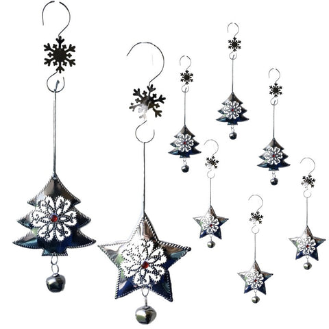 Christmas Trees and Star Ornaments