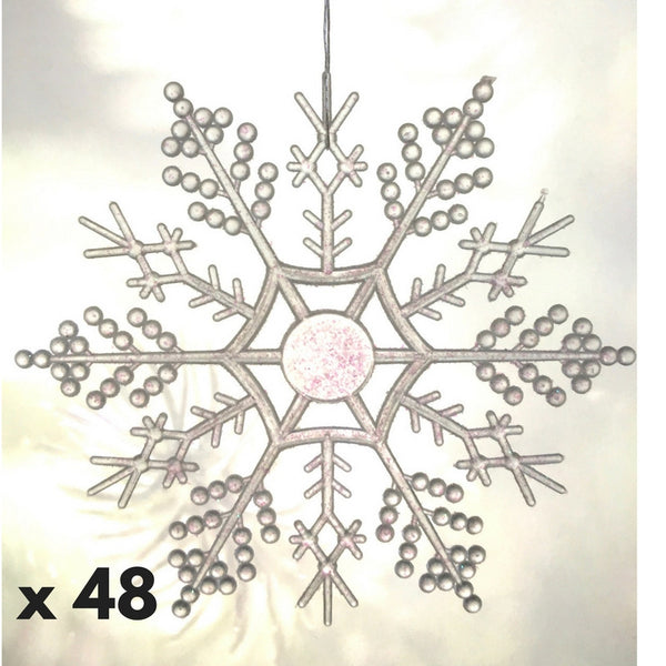 Clear Iridescent Snowflake Ornaments