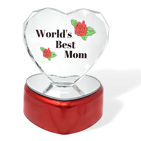 World's Best Mom LED Lighted Heart Gift