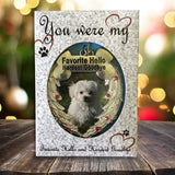 Pet Memorial Photo Christmas Ornament - Favorite Hello Hardest Goodbye Saying