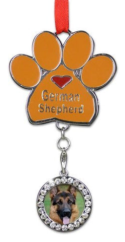 German Shepherd Ornament - I love German Shepherds Christmas Ornament(2380)