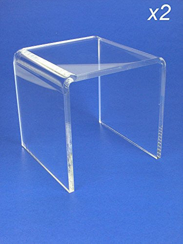 Acrylic Display Stand Risers Premium 5 Inch High Set of 2 (1374-5)