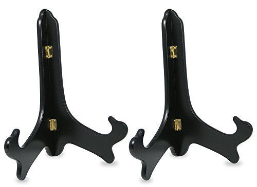 Black Wooden Easels Premium Quality Plate Holder Folding Display Stand Set of 2