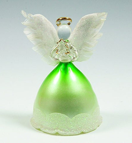 Angel Statues and Figurines - LED Light Up Angels with Real Feather Wings