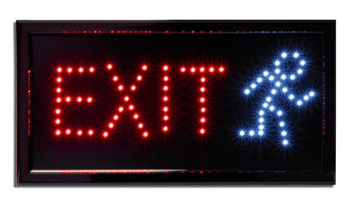 LED Neon Lighted Exit Sign - Business Sign