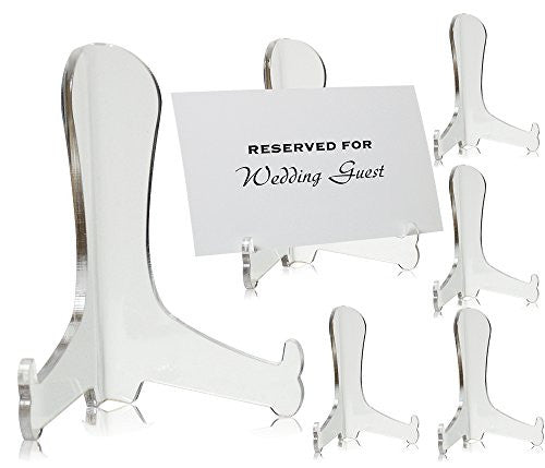 Clear Acrylic Fixed Position Easels - Set of 6 - 3 Inch Easels(1323-3)