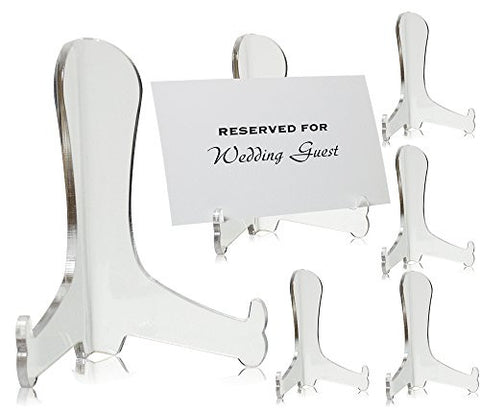 Clear Acrylic Fixed Position Easels - Set of 6 - 3 Inch Easels